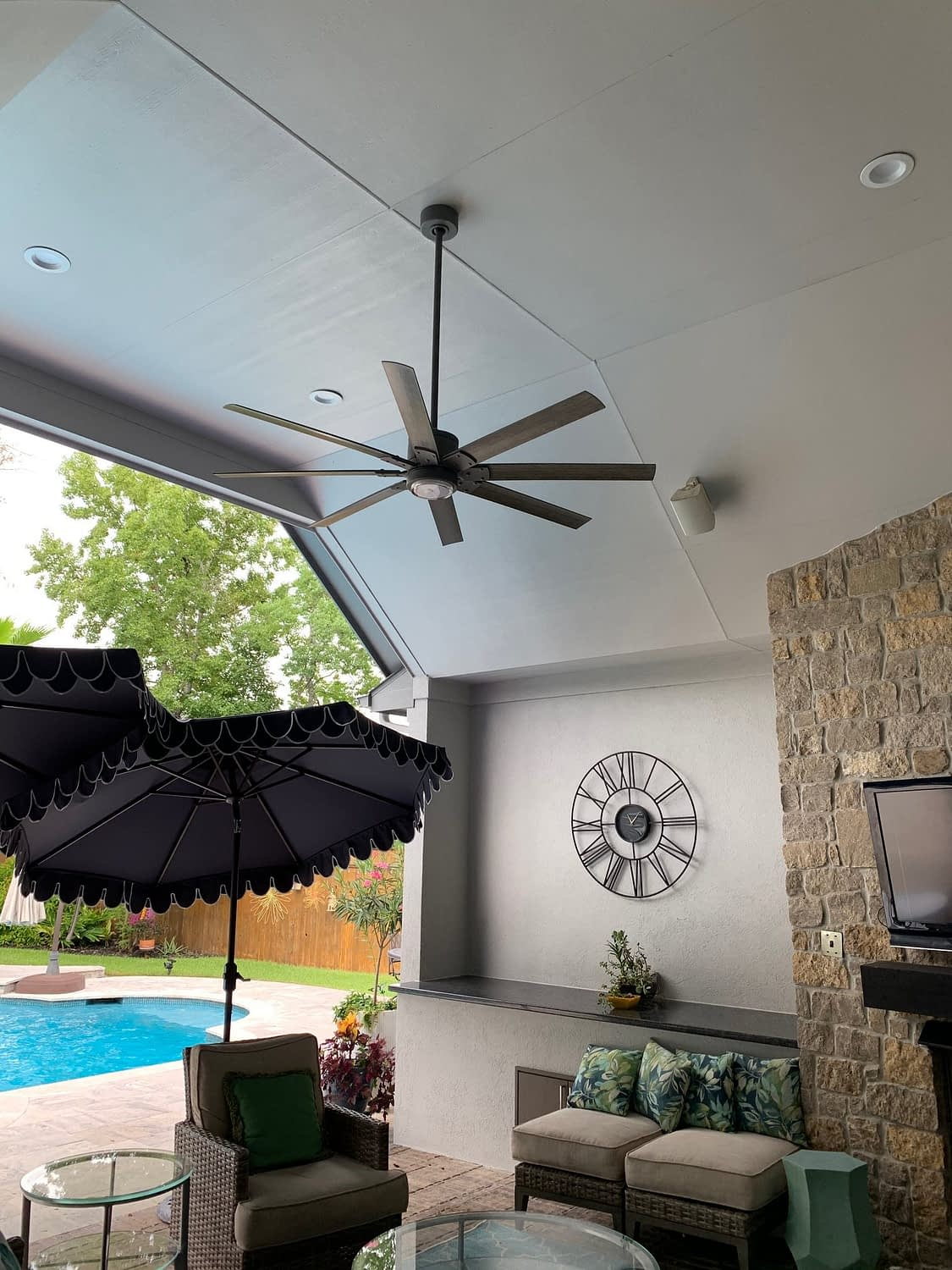Ceiling fan and other fixtures done by Xpress Lighting
